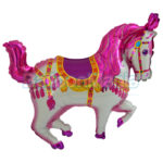 Balon folie Cal Circ roz cu Heliu 60 cm 901668F-HE