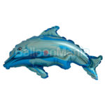 Balon folie Delfin albastru 35 cm
