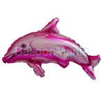 Balon folie Delfin roz 35 cm