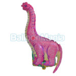 Balon folie Dinozaur roz 35 cm