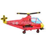 Balon folie Elicopter rosu 60 cm