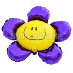Balon folie Floare mov 35 cm