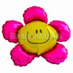 Balon folie Floare roz 35 cm