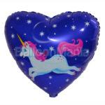 Balon folie Unicorn in zbor 45 cm