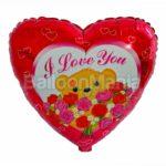 Balon folie Ursulet cu trandafiri 45 cm