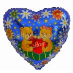 Balon folie Ursuleti cu Perna Love 45 cm