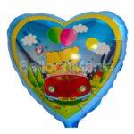 Balon folie Ursuleti in Masina 45 cm