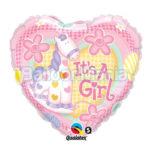 Balon folie It's a girl cu Heliu 45 cm Q91297-HE