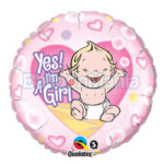 Balon folie Yes! I'm a girl cu Heliu 45 cm Q86890-HE
