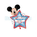 Balon folie Mickey Happy Birthday 60 cm