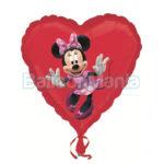 Balon folie Inima Minnie 45 cm