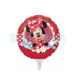 Balon folie Minnie cu flori - 22 cm