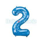 Balon folie cifra 2 albastru