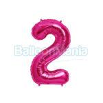 Balon folie cifra 2 magenta