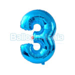 Balon folie cifra 3 albastru