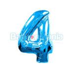 Balon folie cifra 4 albastru