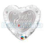 Balon folie Just Married 45 cm 15816
