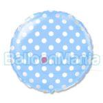 balon-folie-polka-albastru-45cm