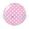 balon-folie-polka-roz- 45cm