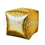 Balon folie Cubez auriu 38 x 43 cm 28336