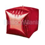 Balon folie Cubez rosu 38×43 cm 28337