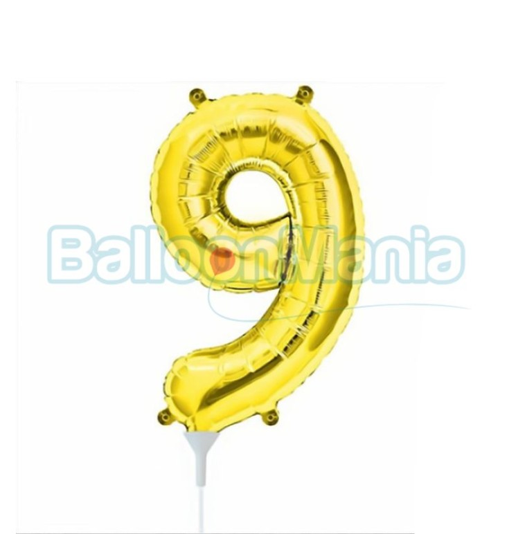balon-folie-cifra-9-auriu-41cm