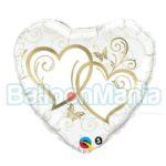balon-folie-inimi-inlantuite-aurii-45cm