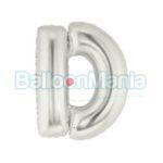 balon-folie-litera-d-argintiu
