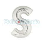 balon-folie-litera-s-argintiu