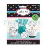 Set 6 etichete personalizabile, pentru candy bar 245551