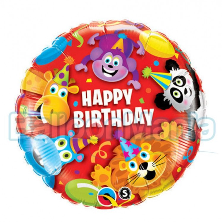 balon-folie-happy-birthday-animale-jungla-45 cm
