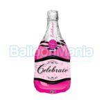 balon-folie-sticla-de-sampanie-roz