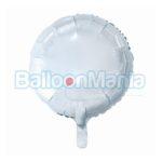 Balon folie alba 43 cm HS-O18BL