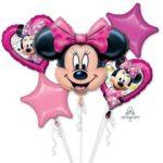 buchet-5-baloane-folie-minnie-mouse