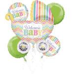 buchet-5-baloane-folie-welcome-baby-30917