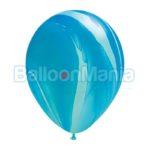 Baloane latex, superagate albastru 91538.05