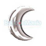 Balon folie 33x36cm Luna argintie 16297