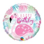 Balon folie Birthday Pink Flamingo, 45 cm 57274