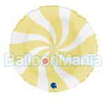 Balon folie Acadea galben pal, 46 cm G018M04