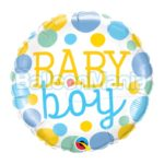 Balon folie Baby Boy Dots, 45 cm 55385