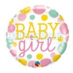 Balon folie Baby Girl Dots, 45 cm 55388