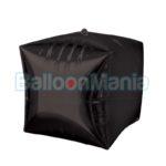 Balon folie Cubez negru, 38×43 cm 28391
