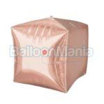 Balon folie Cubez rose gold, 38×43 cm 36183