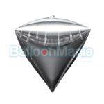 Balon folie Diamondz argintiu, 38×43 cm 28339