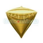 Balon folie Diamondz auriu, 38×43 cm 28340