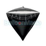 Balon folie Diamondz negru, 38×43 cm 28346