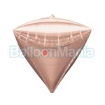 Balon folie Diamondz rose gold, 38×43 cm 36184