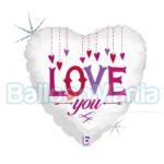 Balon folie holografica Love You, 46 cm 36217H