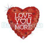 Balon folie holografica Love You More, 46 cm 36518H