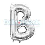 Balon Folie Litera B argintiu, 33 cm 33013